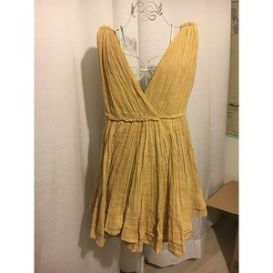 Mes Demoiselles Short Yellow Dress Fits like an 8
